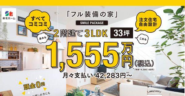 泉北ホーム フル装備の家(スマイル)の価格