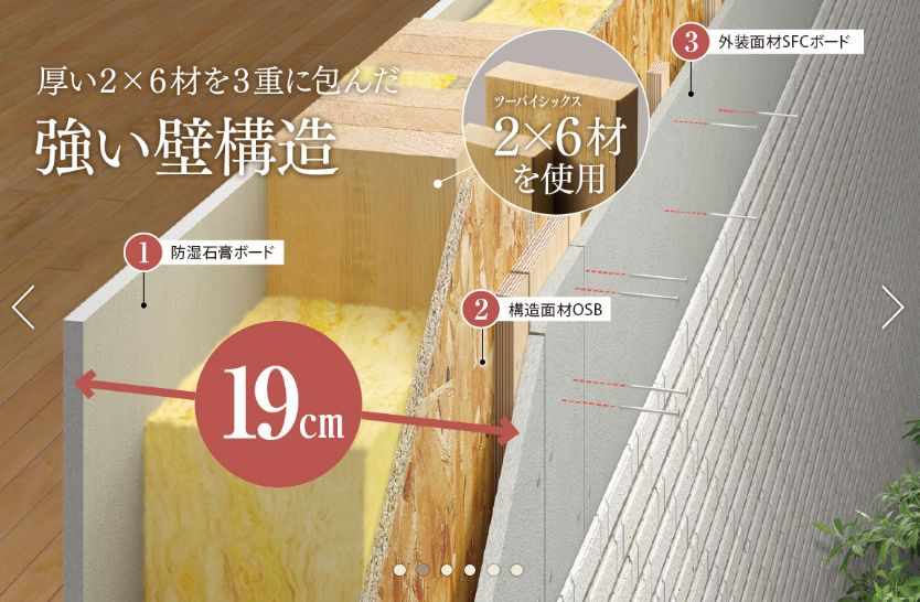 総壁厚190mmの強靭な壁