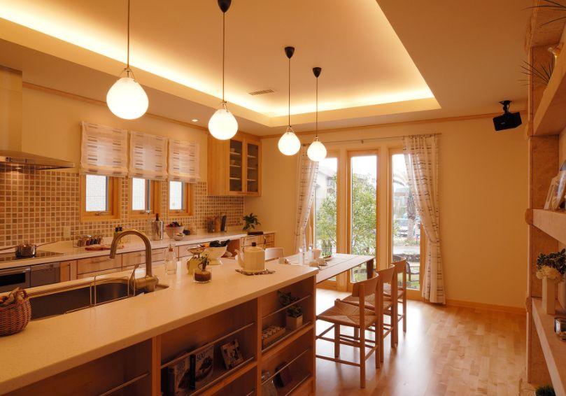 スウェーデンハウス 内装 ダイニングキッチン